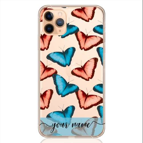 Butterfly Pastel Blu Name Low