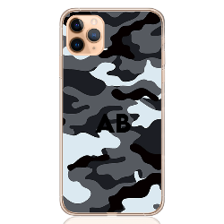 Camouflage grey letter