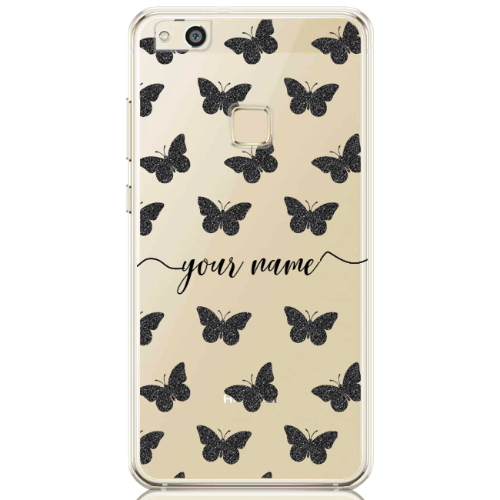 Glitter Butterfly Black Name