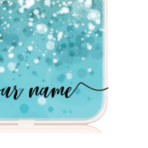 Glitter blue name low