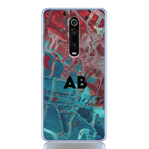 abstract camouflage azure letter