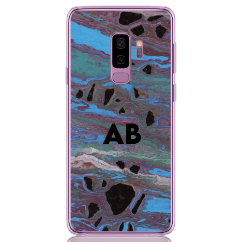 abstract camouflage blue letter