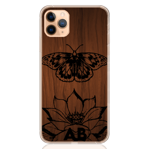 butterfly wood letter low