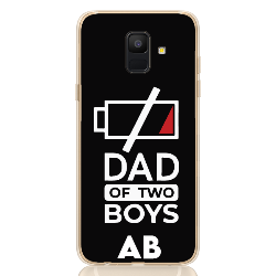dad of two boys white letter low