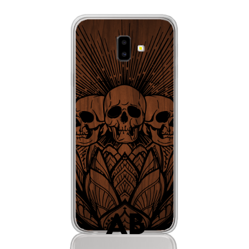 flower skull wood letter low