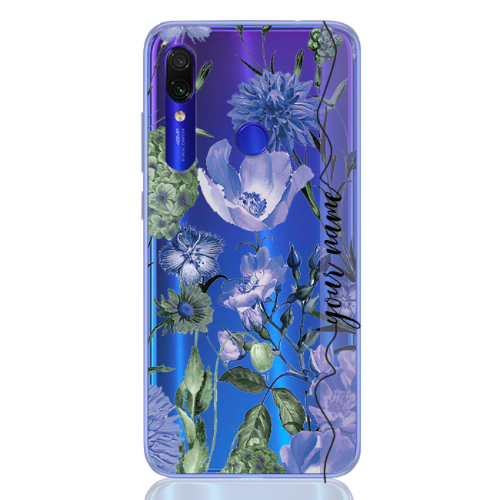 romantic flower blu line