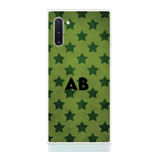 star camouflage green letter