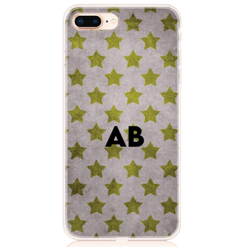 star camouflage grey letter